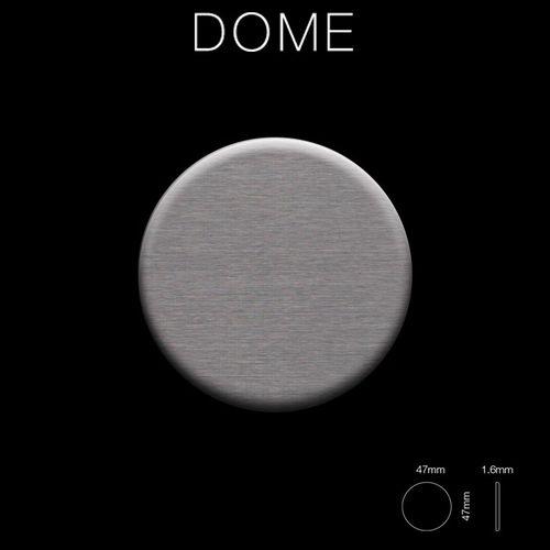Mosaico metallo solido Titanio spazzolato Smoke grigio scuro spesso 1,6 mm ALLOY Dome-Ti-SB – Bild 2