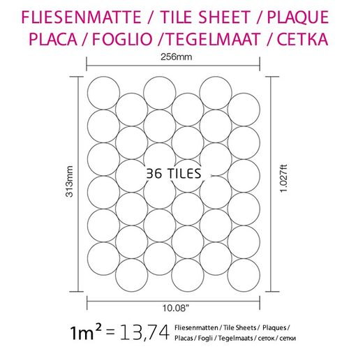 Mosaik Fliese massiv Metall Rohstahl gewalzt in grau 1,6mm stark ALLOY Dome-RS 0,73 m2 – Bild 4