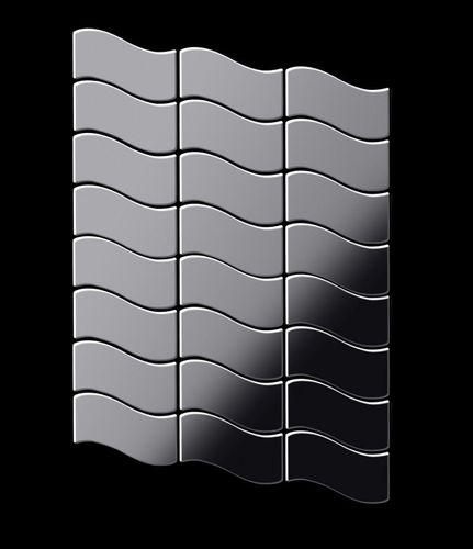 Mozaïektegels massief metaal roestvrij staal Marine hoogglanzend grijs 1,6 mm dik ALLOY Flux-S-S-MM ontworpen door Karim Rashid – Bild 3