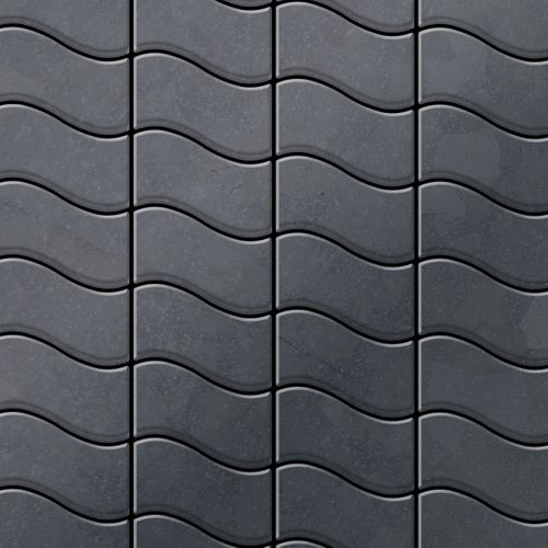 Mosaik Fliese massiv Metall Rohstahl gewalzt in grau 1,6mm stark ALLOY Flux-RS Designed by Karim Rashid 0,86 m2 – Bild 1