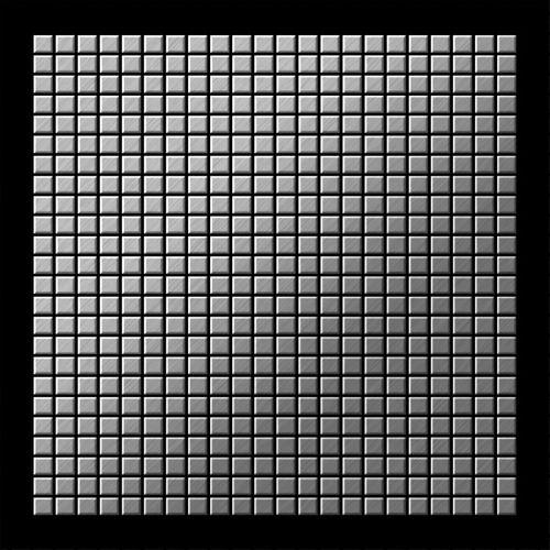 Azulejo mosaico de metal sólido Acero inoxidable cepillado gris 1,6 mm de grosor ALLOY Glomesh-S-S-B 1,07 m2 – Imagen 3