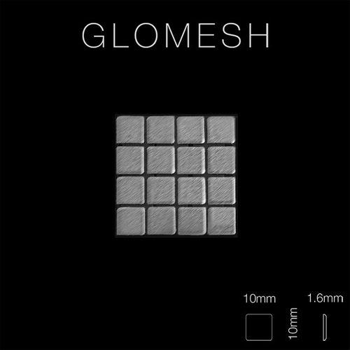 Mosaik Fliese massiv Metall Edelstahl gebürstet in grau 1,6mm stark ALLOY Glomesh-S-S-B 1,07 m2 – Bild 2