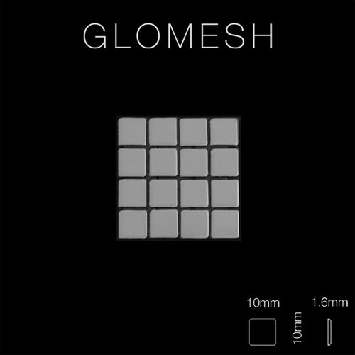 Mosaik Fliese massiv Metall Edelstahl hochglänzend in grau 1,6mm stark ALLOY Glomesh-S-S-M 1,07 m2 – Bild 2