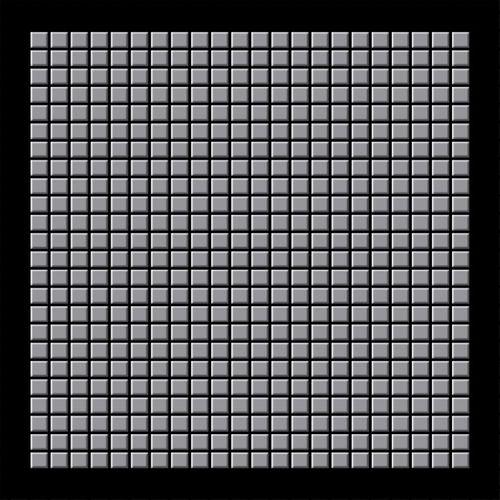 Mosaik Fliese massiv Metall Edelstahl matt in grau 1,6mm stark ALLOY Glomesh-S-S-MA 1,07 m2 – Bild 3