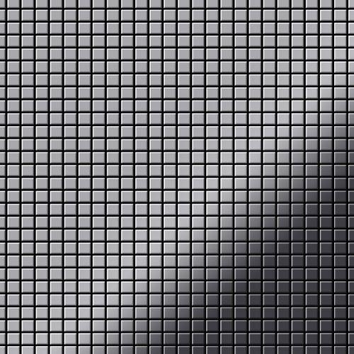Mosaik Fliese massiv Metall Edelstahl marine hochglänzend in grau 1,6mm stark ALLOY Glomesh-S-S-MM 1,07 m2 – Bild 1