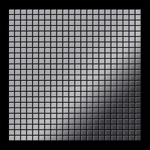 Mosaik Fliese massiv Metall Edelstahl marine hochglänzend in grau 1,6mm stark ALLOY Glomesh-S-S-MM 1,07 m2 – Bild 3