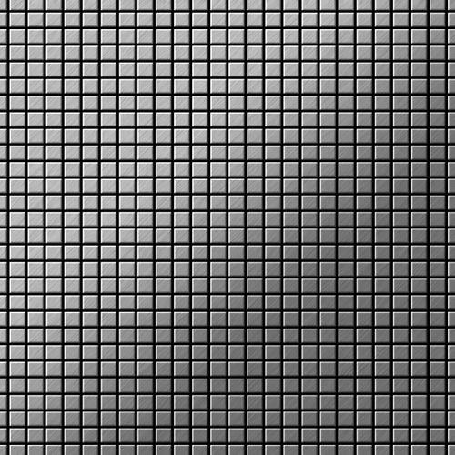 Azulejo mosaico de metal sólido Acero inoxidable Marine cepillado gris 1,6 mm de grosor ALLOY Glomesh-S-S-MB 1,07 m2 – Imagen 1