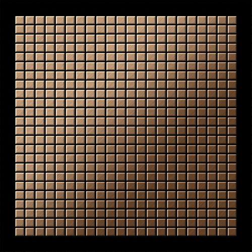 Mosaik Fliese massiv Metall Titan gebürstet in kupfer 1,6mm stark ALLOY Glomesh-Ti-AB 1,07 m2 – Bild 3