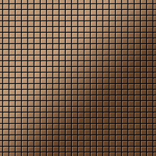 Mosaico metallo solido Titanio spazzolato Amber rame spesso 1,6 mm ALLOY Glomesh-Ti-AB – Bild 1