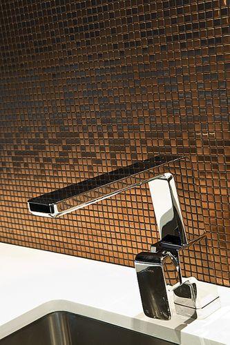 Mosaik Fliese massiv Metall Titan gebürstet in kupfer 1,6mm stark ALLOY Glomesh-Ti-AB 1,07 m2 – Bild 6