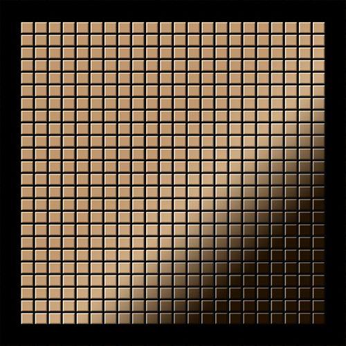 Mosaik Fliese massiv Metall Titan hochglänzend in kupfer 1,6mm stark ALLOY Glomesh-Ti-AM 1,07 m2 – Bild 3