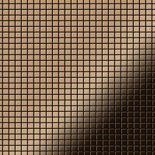 Mosaik Fliese massiv Metall Titan hochglänzend in kupfer 1,6mm stark ALLOY Glomesh-Ti-AM 1,07 m2 – Bild 1