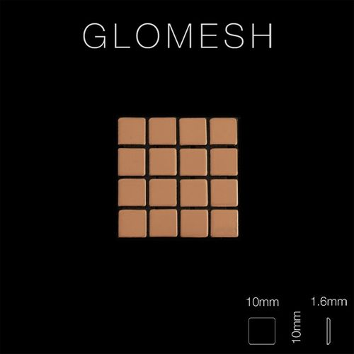 Mosaico metallo solido Titanio specchiato Amber rame spesso 1,6 mm ALLOY Glomesh-Ti-AM – Bild 2