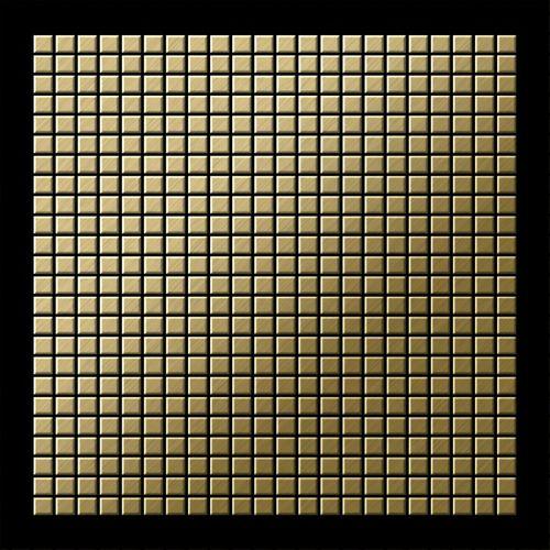 Mosaïque métal massif Carrelage Titane brossé Gold doré Grosseur 1,6mm ALLOY Glomesh-Ti-GB 1,07 m2 – Bild 3