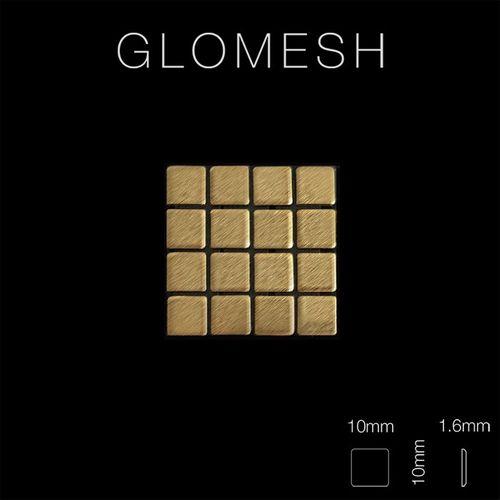 Mosaik Fliese massiv Metall Titan gebürstet in gold 1,6mm stark ALLOY Glomesh-Ti-GB 1,07 m2 – Bild 2