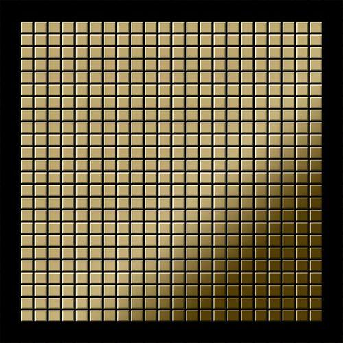 Mosaïque métal massif Carrelage Titane miroir Gold doré Grosseur 1,6mm ALLOY Glomesh-Ti-GM 1,07 m2 – Bild 3