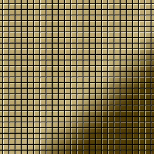 Mosaico metallo solido Titanio specchiato Gold oro spesso 1,6 mm ALLOY Glomesh-Ti-GM – Bild 1
