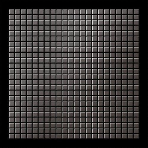 Mosaik Fliese massiv Metall Titan gebürstet in dunkelgrau 1,6mm stark ALLOY Glomesh-Ti-SB 1,07 m2 – Bild 3