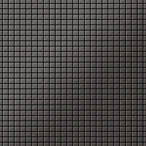 Mosaik Fliese massiv Metall Titan gebürstet in dunkelgrau 1,6mm stark ALLOY Glomesh-Ti-SB 1,07 m2 – Bild 1
