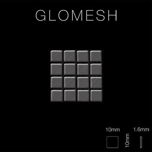 Mosaik Fliese massiv Metall Titan gebürstet in dunkelgrau 1,6mm stark ALLOY Glomesh-Ti-SB 1,07 m2 – Bild 2