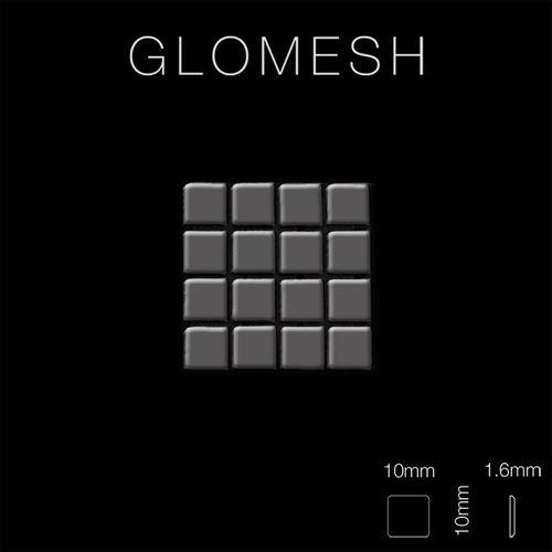 Mosaik Fliese massiv Metall Titan hochglänzend in dunkelgrau 1,6mm stark ALLOY Glomesh-Ti-SM 1,07 m2 – Bild 2