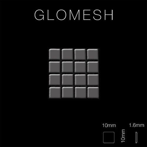 Mosaïque métal massif Carrelage Titane miroir Smoke gris foncé Grosseur 1,6mm ALLOY Glomesh-Ti-SM 1,07 m2 – Bild 2