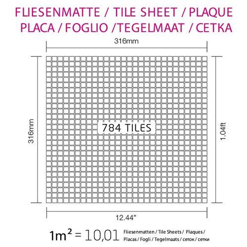 Mosaik Fliese massiv Metall Kupfer gewalzt in Kupfer 1,6mm stark ALLOY Glomesh-CM 1,07 m2 – Bild 4