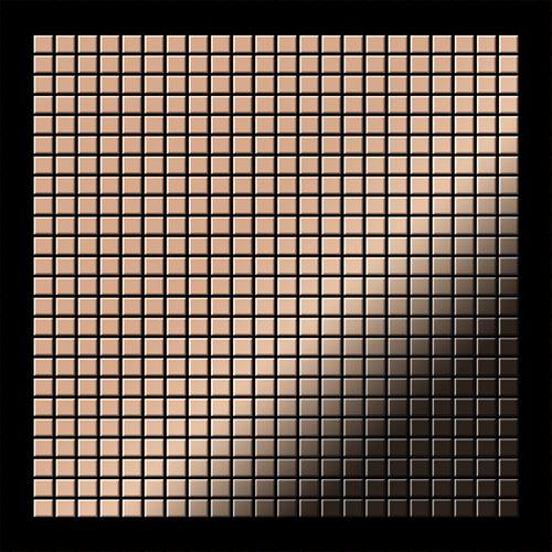 Mosaik Fliese massiv Metall Kupfer gewalzt in Kupfer 1,6mm stark ALLOY Glomesh-CM 1,07 m2 – Bild 3