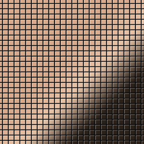 Mosaïque métal massif Carrelage Cuivre laminé cuivre Grosseur 1,6mm ALLOY Glomesh-CM 1,07 m2 – Bild 1