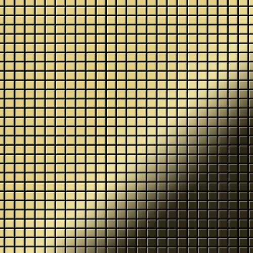 Mosaik Fliese massiv Metall Messing gewalzt in gold 1,6mm stark ALLOY Glomesh-BM 1,07 m2 – Bild 1