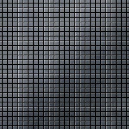Azulejo mosaico de metal sólido Acero bruto laminado gris oscuro 1,6 mm de grosor ALLOY Glomesh-RS 1,07 m2 – Imagen 1