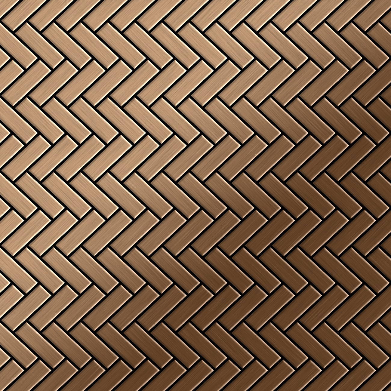 mosaik fliese massiv metall titan geb rstet kupfer 1 6mm herringbone ti ab ebay. Black Bedroom Furniture Sets. Home Design Ideas