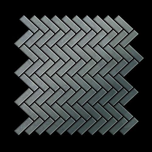 Mosaik Fliese massiv Metall Rohstahl gewalzt in grau 1,6mm stark ALLOY Herringbone-RS 0,85 m2 – Bild 3