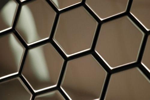 Mozaïektegels massief metaal roestvrij staal hoogglanzend grijs 1,6 mm dik ALLOY Honey-S-S-M – Bild 5