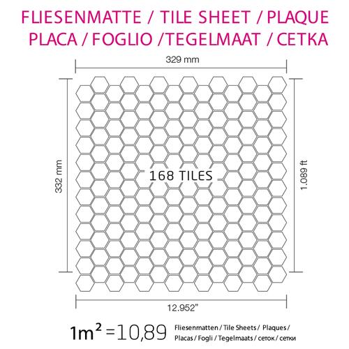 Mosaik Fliese massiv Metall Edelstahl marine hochglänzend in grau 1,6mm stark ALLOY Honey-S-S-MM 0,92 m2 – Bild 6