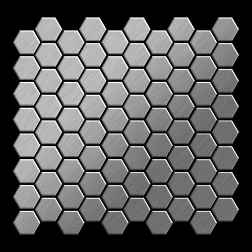 Mosaik Fliese massiv Metall Edelstahl marine gebürstet in grau 1,6mm stark ALLOY Honey-S-S-MB 0,92 m2 – Bild 3
