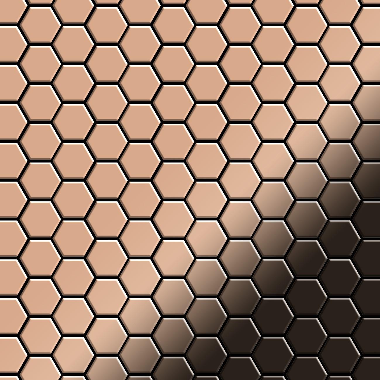 mosaik fliese massiv metall kupfer gewalzt kupfer 1 6mm stark honey cm ebay. Black Bedroom Furniture Sets. Home Design Ideas