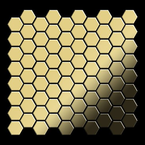 Mosaik Fliese massiv Metall Messing gewalzt in gold 1,6mm stark ALLOY Honey-BM 0,92 m2 – Bild 3