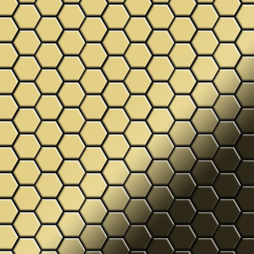 Mosaik Fliese massiv Metall Messing gewalzt in gold 1,6mm stark ALLOY Honey-BM 0,92 m2 – Bild 1