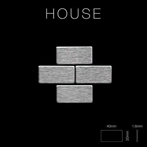 Mosaik Fliese massiv Metall Edelstahl gebürstet in grau 1,6mm stark ALLOY House-S-S-B 0,98 m2 – Bild 2