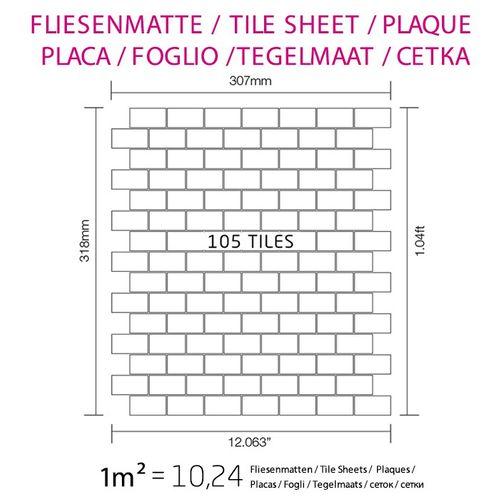 Mosaik Fliese massiv Metall Edelstahl matt in grau 1,6mm stark ALLOY House-S-S-MA 0,98 m2 – Bild 4