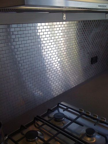 Mosaik Fliese massiv Metall Edelstahl marine gebürstet in grau 1,6mm stark ALLOY House-S-S-MB 0,98 m2 – Bild 5