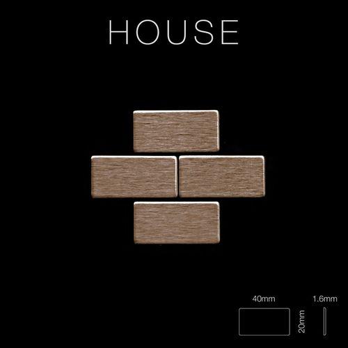 Mosaik Fliese massiv Metall Titan gebürstet in kupfer 1,6mm stark ALLOY House-Ti-AB 0,98 m2 – Bild 2