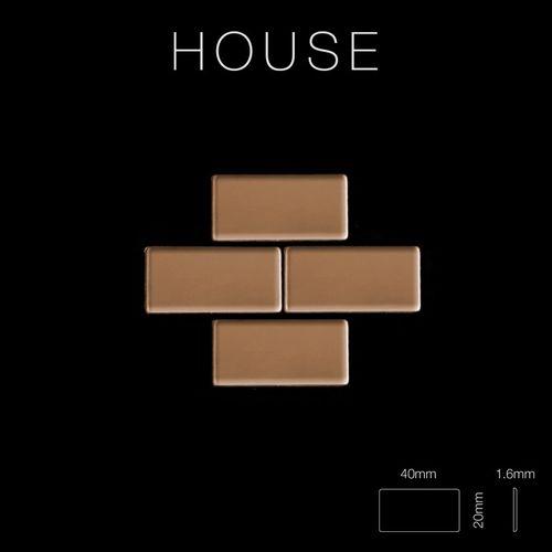 Mosaik Fliese massiv Metall Titan hochglänzend in kupfer 1,6mm stark ALLOY House-Ti-AM 0,98 m2 – Bild 2