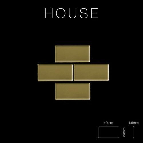 Mosaik Fliese massiv Metall Titan hochglänzend in gold 1,6mm stark ALLOY House-Ti-GM 0,98 m2 – Bild 2