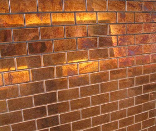 Mosaïque métal massif Carrelage Cuivre laminé cuivre Grosseur 1,6mm ALLOY House-CM 0,98 m2 – Bild 4