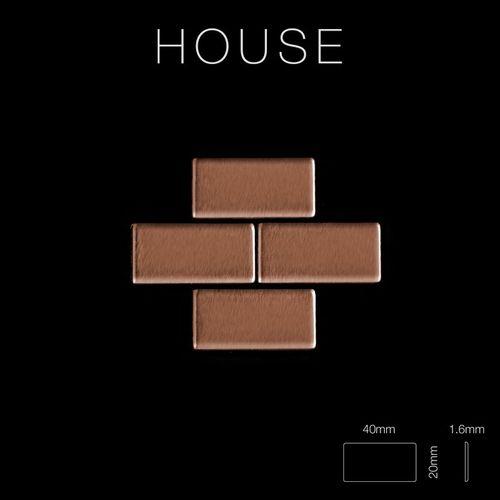 Mosaik Fliese massiv Metall Kupfer gewalzt in kupfer 1,6mm stark ALLOY House-CM 0,98 m2 – Bild 2