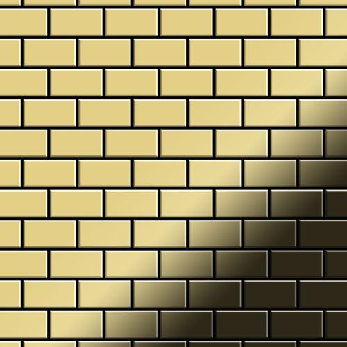 Mosaico metallo solido Ottone laminato oro spesso 1,6 mm ALLOY House-BM – Bild 1
