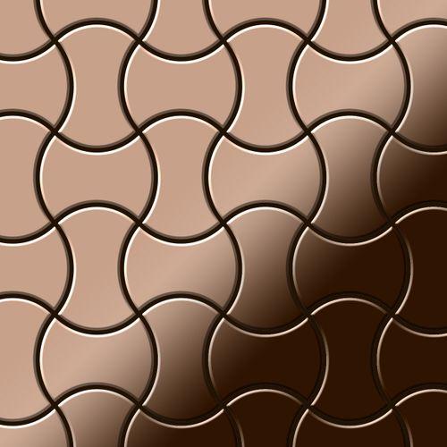 Mosaik Fliese massiv Metall Titan hochglänzend in kupfer 1,6mm stark ALLOY Infinit-Ti-AM Designed by Karim Rashid 0,91 m2 – Bild 1