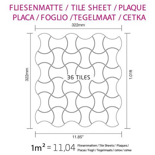 Mosaik Fliese massiv Metall Titan hochglänzend in dunkelgrau 1,6mm stark ALLOY Infinit-Ti-SM Designed by Karim Rashid 0,91 m2 – Bild 7